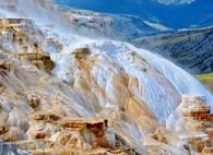 Mammoth Hot Springs Yellowstone - Premium Diamond Painting - Round - 50x70 - Free Shipping