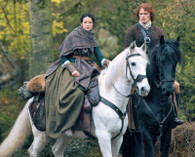 Outlander - Jamie and Claire on Horses - Premium Diamond Painting - Square - 55x70 - Free Shipping