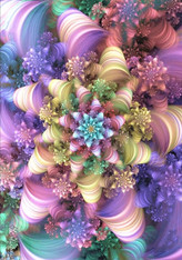 Pastel Abstract Flower - Premium Diamond Painting - Square - 50x70 - Free Shipping