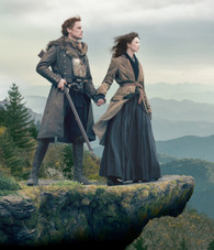 Outlander - Jamie & Claire on Outcrop Premium Diamond Painting - Square - 55x70 - Free Shipping