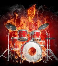 Skeleton Drummer - Premium Diamond Painting - Round - 50x60 - Free Shipping