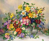 Spring Flowers - Premium Diamond Painting - Round- 50x60 - Free Shipping
