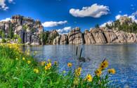 Sylvan Lake Custer State Park SD - Premium Diamond Painting - Square - 55x70 - Free Shipping