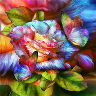 Butterflies on Rose - Premium Diamond Painting - Square - 50x50 - Free Shipping
