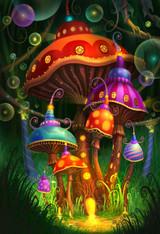 Mushrooms - Premium Diamond Painting - Square - 40x50 - Free Shipping