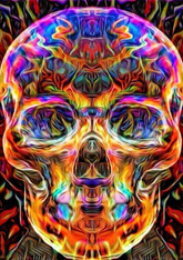 Multi-Colored Skull - Premium Diamond Painting - Round - 40x50 - Free Shipping