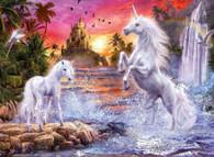 Unicorns at Waterfall - Premium Diamond Painting - Square - 50x70 - Free Shipping