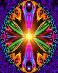 Rainbow Psychedelic - Premium Diamond Painting - Square - 40x50 - Free Shipping
