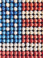 Flag of Baseballs - Premium Diamond Painting - Round - 55x70 - Free Shipping