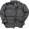 KG7100B - PU Leather Down Jacket in Grey