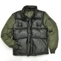KG1650405 - PU LEATHER BOMBER JACKET - OLIVE GREEN