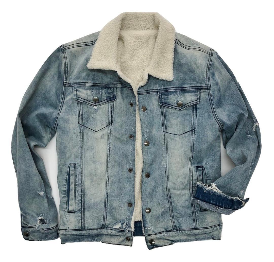 226ad80f STRETCH Sherpa Denim BUTTON DENIM JACKET KG7887 - Kilogram Clothing