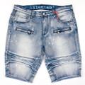 KG1804 MED BLUE Denim Shorts