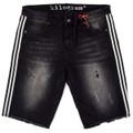 KG1913S FADED BLK Stripe Denim Shorts
