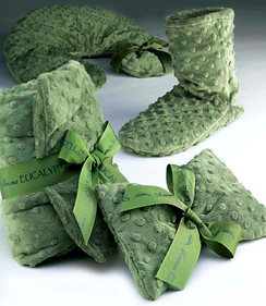 Eucalyptus Green Dot Neck Pillow