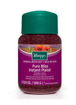 Pure Bliss Mineral Bath Salt: Red Poppy & Hemp