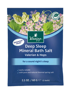 Deep Sleep Mineral Bath Salt Sachet: Valerian & Hops