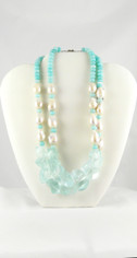 Beautiful Pearls and Blues Necklace