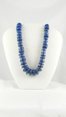 Lapis Lazuli Graduated Buttons Necklace
