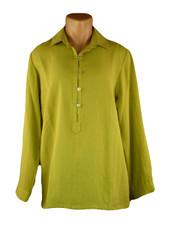 Fridaze Linen Pullover Shirt Celery Green