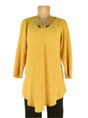 URU Clothing Silk Bias Cut Cruise Style Blouse in Mustard
