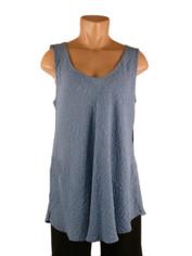 URU Clothing Bias Cut Silk Sleeveless Top Periwinkle