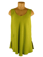 URU Clothing Bias Cut Silk Sleeveless Top Lime