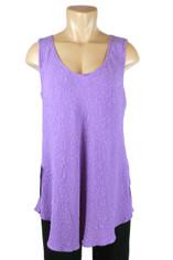 URU Clothing Bias Cut Silk Sleeveless Top Purple