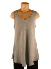 URU Clothing Bias Cut Silk Sleeveless Top Grey