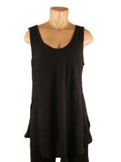 URU Clothing Bias Cut Silk Sleeveless Top Black