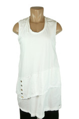 Neon Buddha Sleeveless Journey  Tunic Pure White