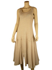 Cool & Chic Linen Dress by Color Me Cotton Natural Beige
