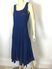 Cool & Chic Linen Dress by Color Me Cotton Navy Blue