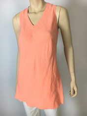Color Me Cotton CMC Linen Sleeveless Sabrina Top in Peachy