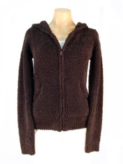 Barefoot Dreams CozyChic Zip Hoodie Espresso Brown