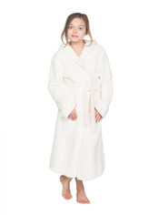Barefoot Dreams CozyChic Youth (10-14) Cover Up/ Robe Ivory on Sale