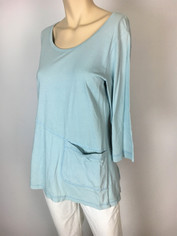 Supima Jersey Rosie Top by Color Me Cotton Soft Blue