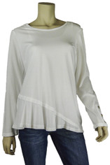 Color Me Cotton CMC Supima Cotton Mary Top in  Pure White on Sale