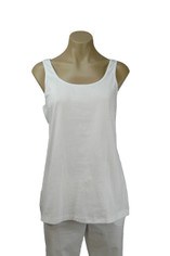 White Neon Buddha Breeze Long Tank Top