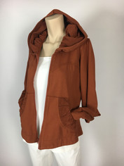 Color Me Cotton CMC French Terry Alana Hoodie Jacket in Cinnamon