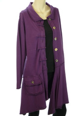 Color Me Cotton CMC Alissa Jacket in Eggplant