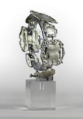 Victorian Style Polished Pewter Bracelett