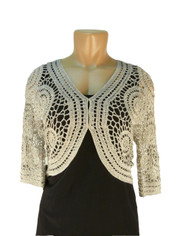 Crochet Bolero Light Grey/Silver
