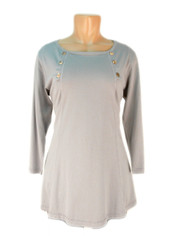 Color Me Cotton CMC Supima Cotton Laurie Top in  Grey Last One Medium