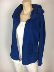 Color Me Cotton CMC Alana Hoodie Jacket in Royal Blue/Navy Last One Medium