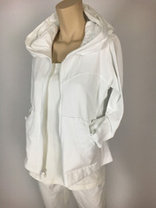 Color Me Cotton CMC Alana Hoodie Jacket in White