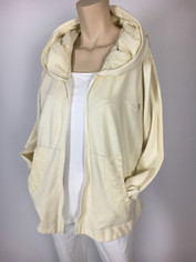 Color Me Cotton CMC Alana Hoodie Jacket in Fresh Cream