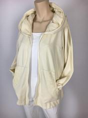 Color Me Cotton CMC Alana Hoodie Jacket in Fresh Cream