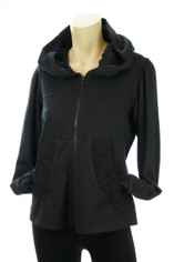 Color Me Cotton  CMC Alana Hoodie Jacket in Black Last One Small
