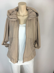 Color Me Cotton CMC Alana Hoodie Jacket Fawn Beige Last One Large